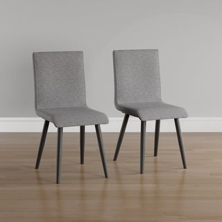 Furniture Of America Bradensbrook Mid Century Modern Style Grey Upholstered  Dining Chair (Set Of