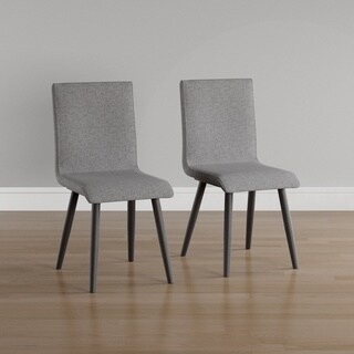 Furniture of America Bradensbrook Mid-Century Modern Style Grey Upholstered Dining Chair (Set of 2)