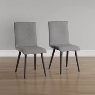 Furniture of America Bradensbrook Mid-Century Modern Style Grey Upholstered  Dining Chair (Set of