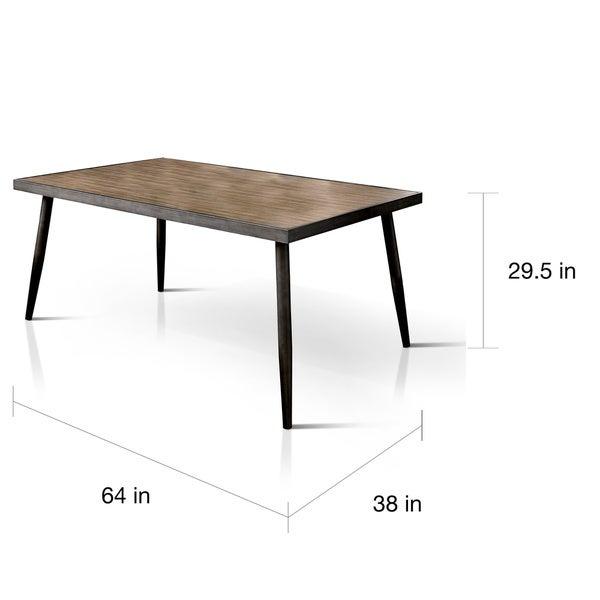 Carson Carrington Bolgheri 64-inch Dark Brown Dining Table