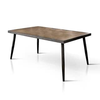 Furniture of America Bradensbrook Mid-Century Modern Industrial Style Metal 64-inch Dining Table|https://ak1.ostkcdn.com/images/products/12984184/P19731207.jpg?impolicy=medium