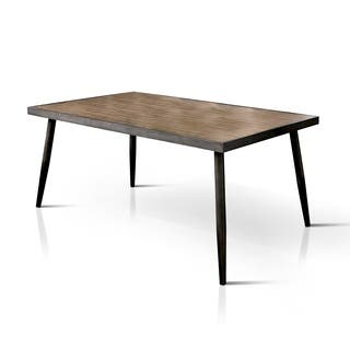 Furniture Of America Bradensbrook Mid Century Modern Style Metal 64 Inch Dining Table