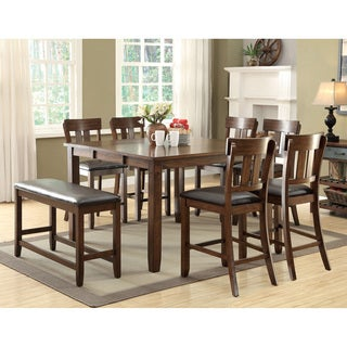 Furniture of America Casington Country Style Rustic Oak Counter Height Dining Table