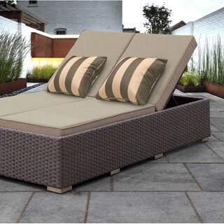 SOLIS Benitto Double Chaise Lounger Sun Chair - Beige Cushions