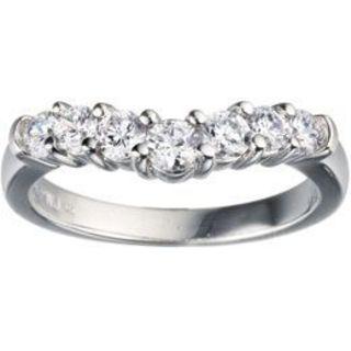 TwoBirch 10k White Gold 1/4ct TDW Diamond Contour Anniversary Wedding Ring (G-H, I1-I2)