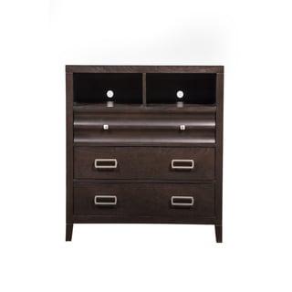 Link to Alpine Legacy Black, Cherry Wood and Veneer 3-drawer TV/Media Chest Similar Items in Bedroom Furniture