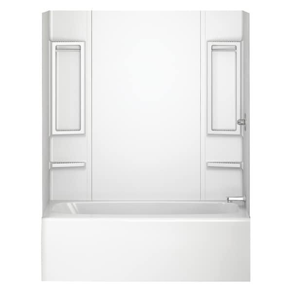 Shop Peerless 40164 White 5-Piece Adhesive Tub Wall - Free Shipping ...