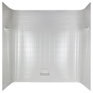 Peerless 36980 White Seamless Bathtub Wall Set