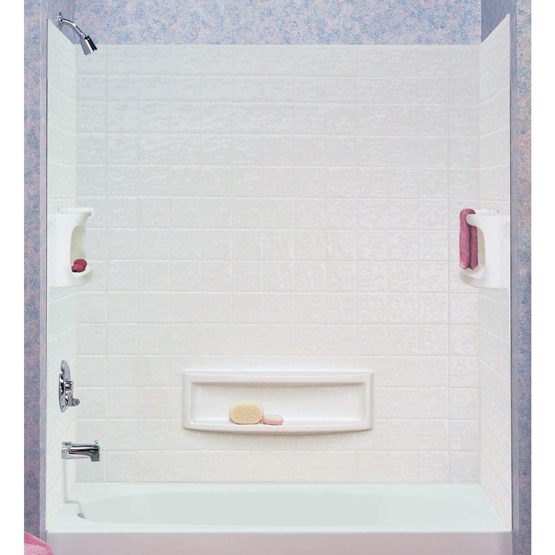 Jensen ASB 39094-HD 3 Piece White Distinction Tub Wall (T...