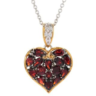 One-of-a-kind Michael Valitutti Heart Shaped Garnet Cluster Pendant