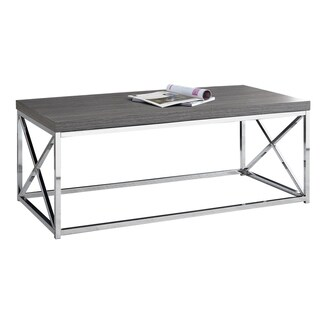Grey, Chrome Metal Coffee Table