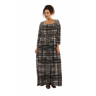 Graceful Glamour Patterned Plus Size Maxi Dress