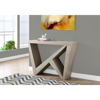 Dark Taupe 48-inch L Hall Console/Accent Table