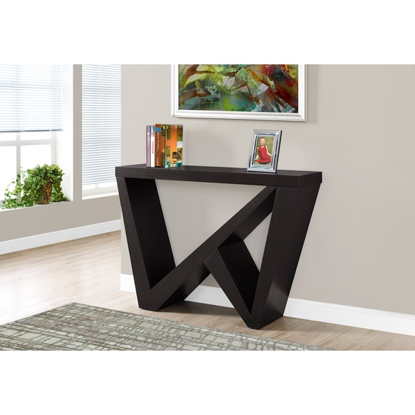 Cappucino 48 inch hall accent console table free for 48 inch sofa table