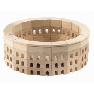 Haba Kids' Roman Coliseum Wood Architectural Block Set (110-piece Set)