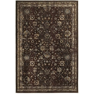 Style Haven Honored Traditions Brown/Ivory Polypropylene Area Rug (6'7 x 9'6)