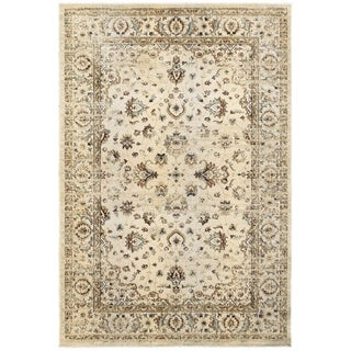 Arabesque Traditions Ivory/ Gold Area Rug (6' 7 x 9' 6)