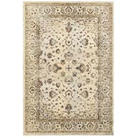 "Arabesque Traditions Ivory/ Gold Area Rug (6' 7 x 9' 6) - 6'7"" x 9'6"""