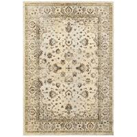 Arabesque Traditions Ivory/ Gold Area Rug - 6' 7 x 9' 6