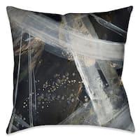 Arctic Wonder Black/ Grey Polyester 18-inch Square Decorative Throw Pillow
