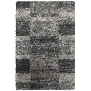 Style Haven Grey Polypropylene Shaded Blocks Shag Rug (6'7 x 9'6)