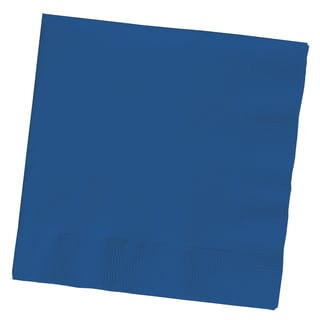 Creative Converting 801137B 2 Ply Navy Beverage Napkins 50 Count