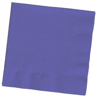 Creative Converting 139371135 Purple 2 Ply Lunch Napkins
