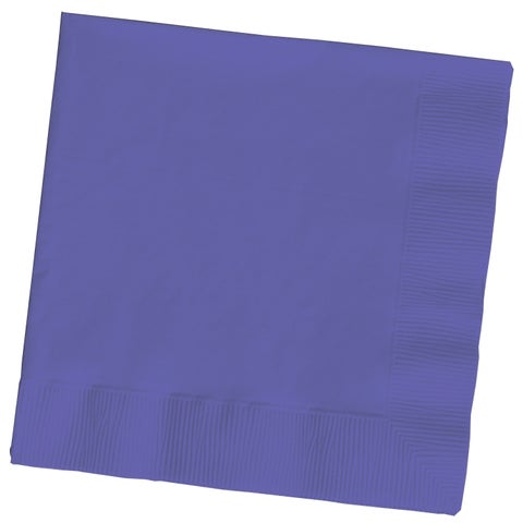 Creative Converting 139371154 Purple 2 Ply Beverage Napkins