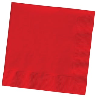 Creative Converting 801031B Red 2 Ply Beverage Napkins