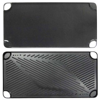 Black Cast-aluminum Reversible Grill and Griddle Pan (Case of 12)
