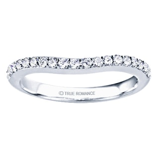 TwoBirch Sterling Silver 1/4ct TDW Diamond Double Shared Prong Contour Ring (G-H, I1-I2)