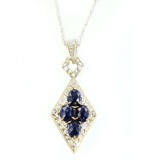 One-of-a-kind Michael Valitutti Rose Cut Blue Sapphire Pendant