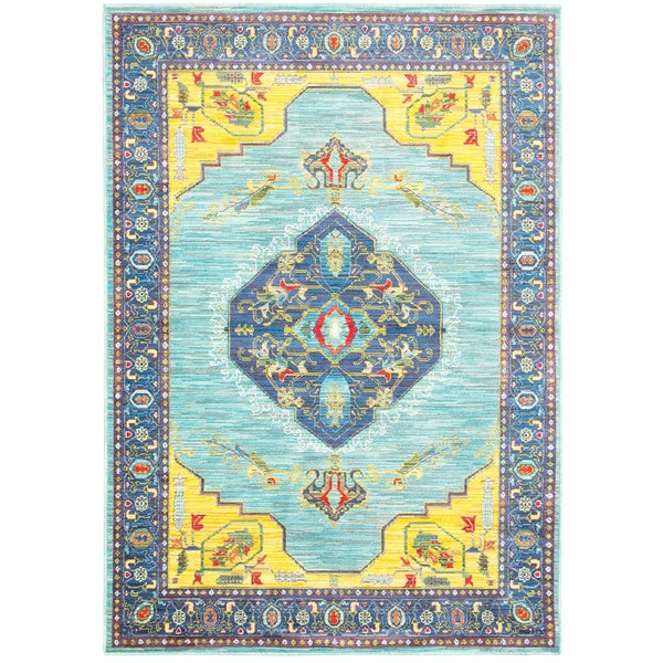 Shop Style Haven Blue/Yellow Polypropylene Old World