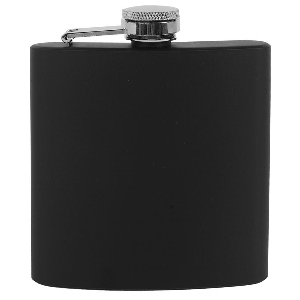 Worthy Black Stainless Steel Flask