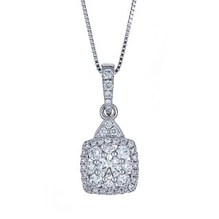 Anika and August 18k White Gold 3/4ct TDW Diamond Pendant (G-H, SI1-SI2)