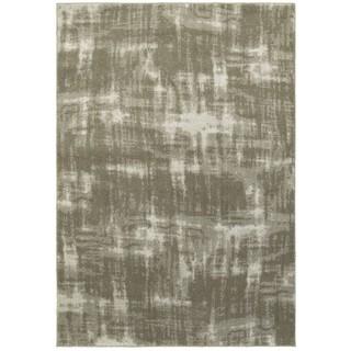 Plush Shadows Grey/Ivory Area Rug (5'3 x 7'6)