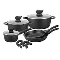 Black Die Cast Aluminum Cookware (Pack of 8)