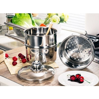 Stainless Steel 5 5 To 9 Inch Steamer Baskets Pack Of 2
