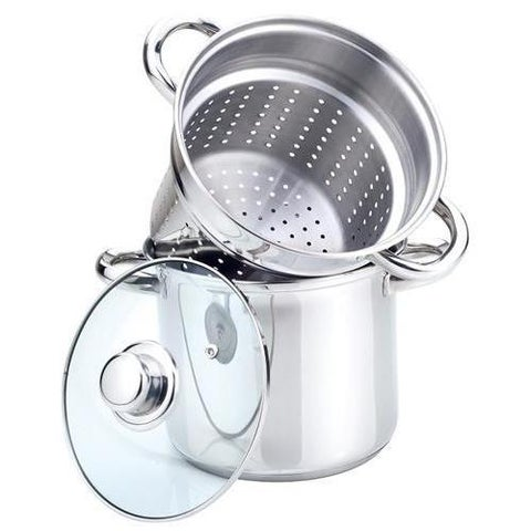 Stainless Steel 3-piece 4-quart Multicooker