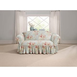 Sure Fit Ballad Bouquet Loveseat Skirted Slipcover