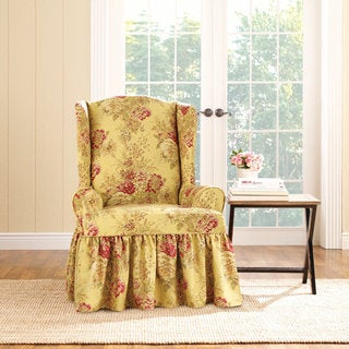 Sure Fit Ballad Bouquet Wing Chair Slipcover