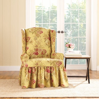 Merveilleux Sure Fit Ballad Bouquet Wing Chair Slipcover