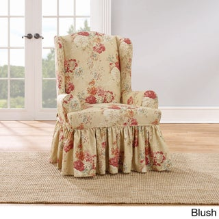 Sure Fit Ballad Bouquet Wing Chair Slipcover (Option: Wing, BLUSH)