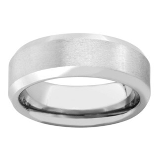 Satin Cobalt 8-millimeter Men's Band - Silver