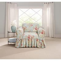 Sure Fit Ballad Bouquet 1 Piece Skirted Chair Slipcover