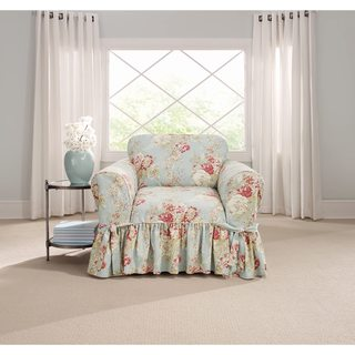 Sure Fit Ballad Bouquet 1 Piece Skirted Chair Slipcover (3 options available)