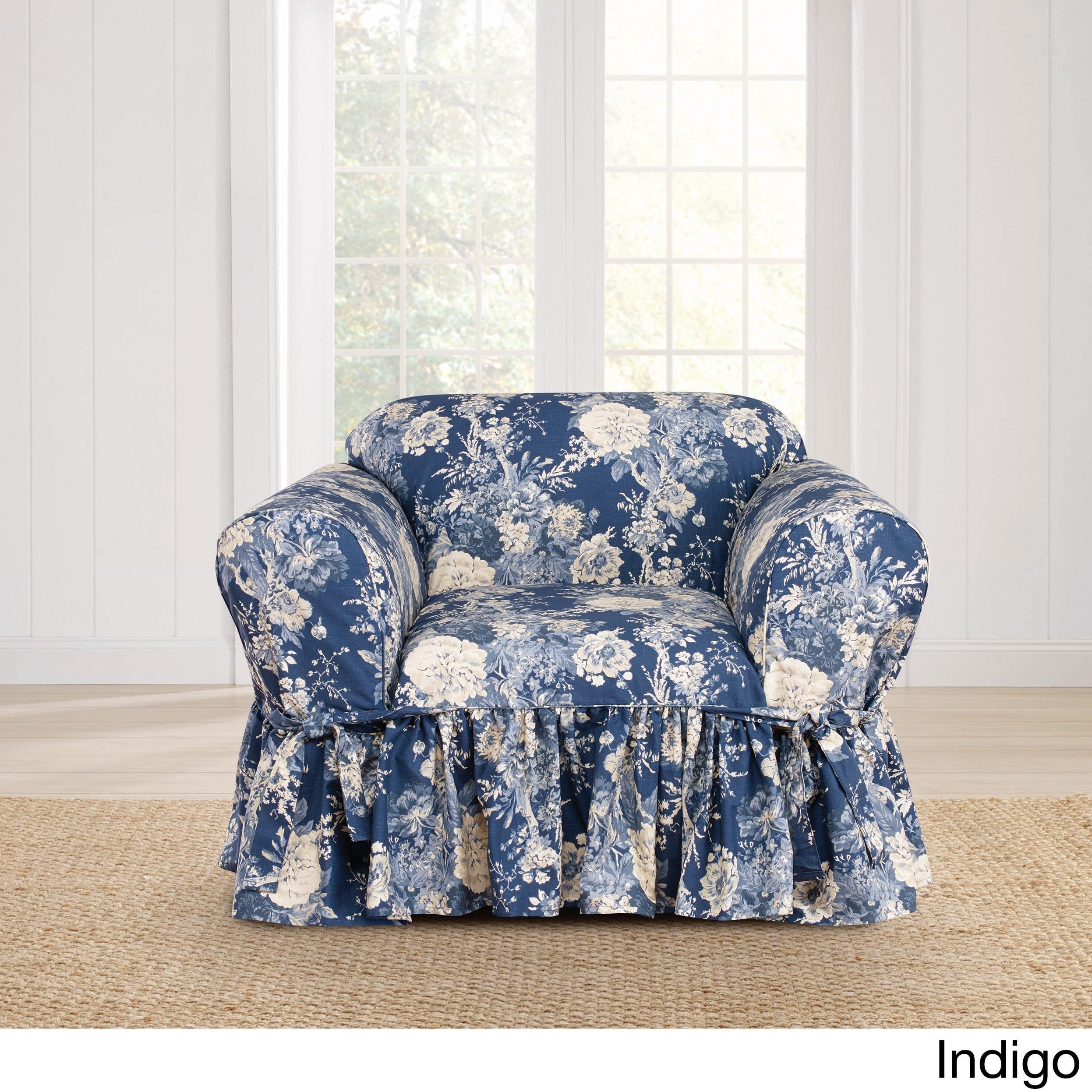 Sure Fit Ballad Bouquet 1 Piece Skirted Chair Slipcover (4 options  available)