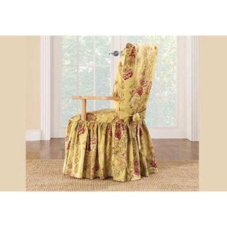 dining room chair slipcovers floral design | Shop Sure Fit Ballad Bouquet Arm Dining Room Chair ...