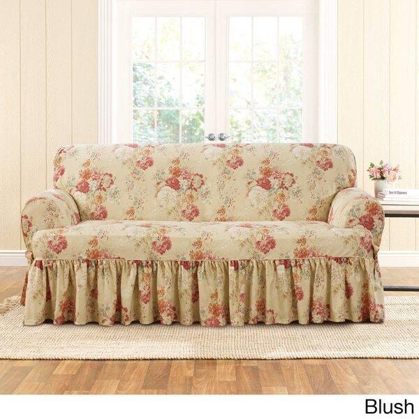 Outstanding Shop Sure Fit Ballad Bouquet Loveseat T Cushion Skirted Machost Co Dining Chair Design Ideas Machostcouk