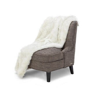 Michael Amini Brighton Faux Fur Throw